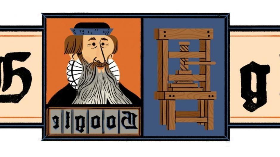 Gutenberg im Google Doodle